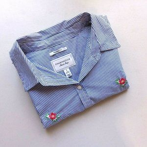 Charter Club Embroidered Button Front Shirt